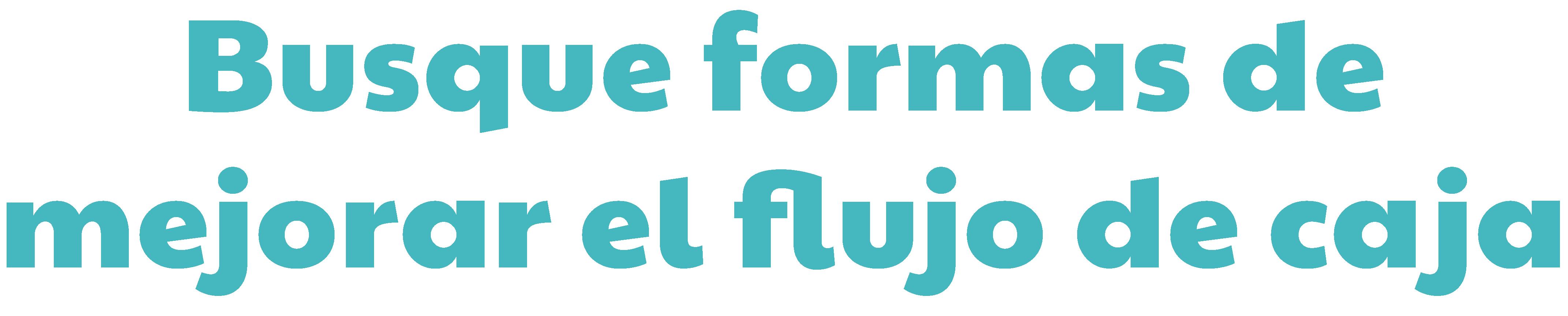 Busque formas de mejorar el flujo de caja